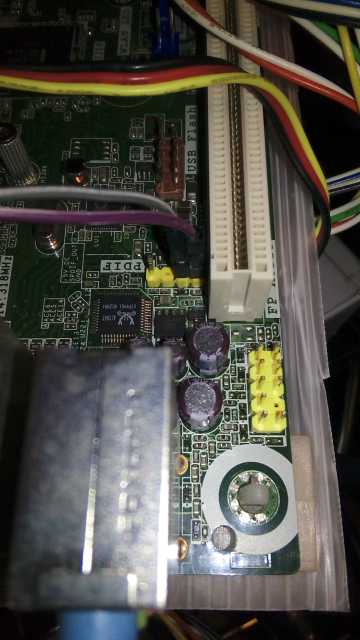 自作同軸デジタルケーブルをD525MWに刺したところ