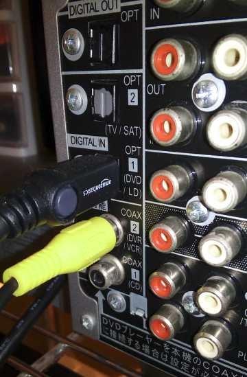 自作同軸デジタルケーブルをVSX-D814-Sに接続したところ