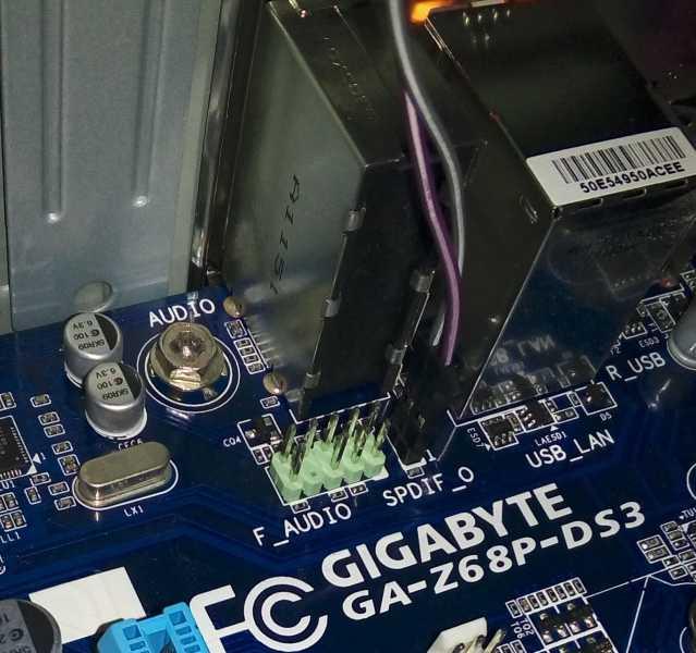 GA-Z68P-DS3のS/PDIF端子接続方法
