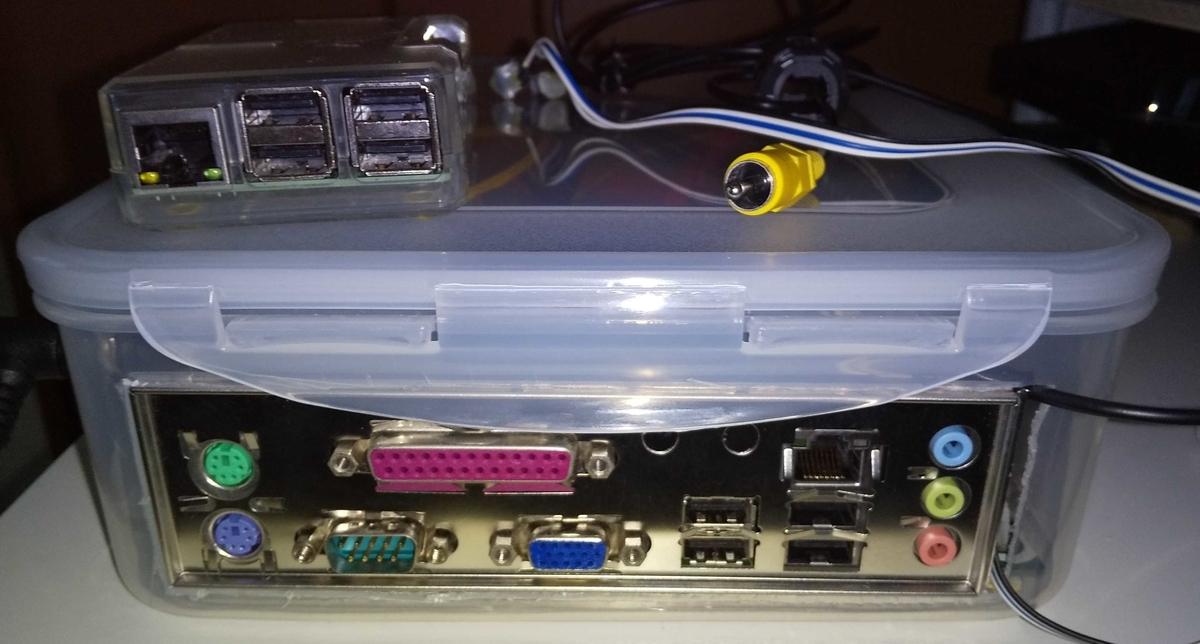 自作PCケースのバックパネル部分