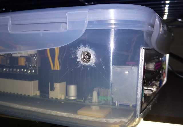 ACアダプター用の穴