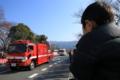 『京都新聞写真コンテスト 特殊車両を見入る』