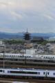 『京都鉄道博物館からの眺望』3本走行