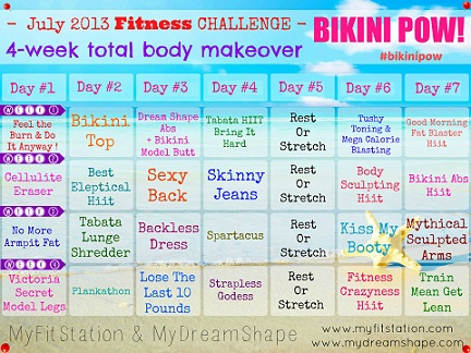 3b897ddbff Bikini Body Workout and Diet Routine - Top Bikini Figure