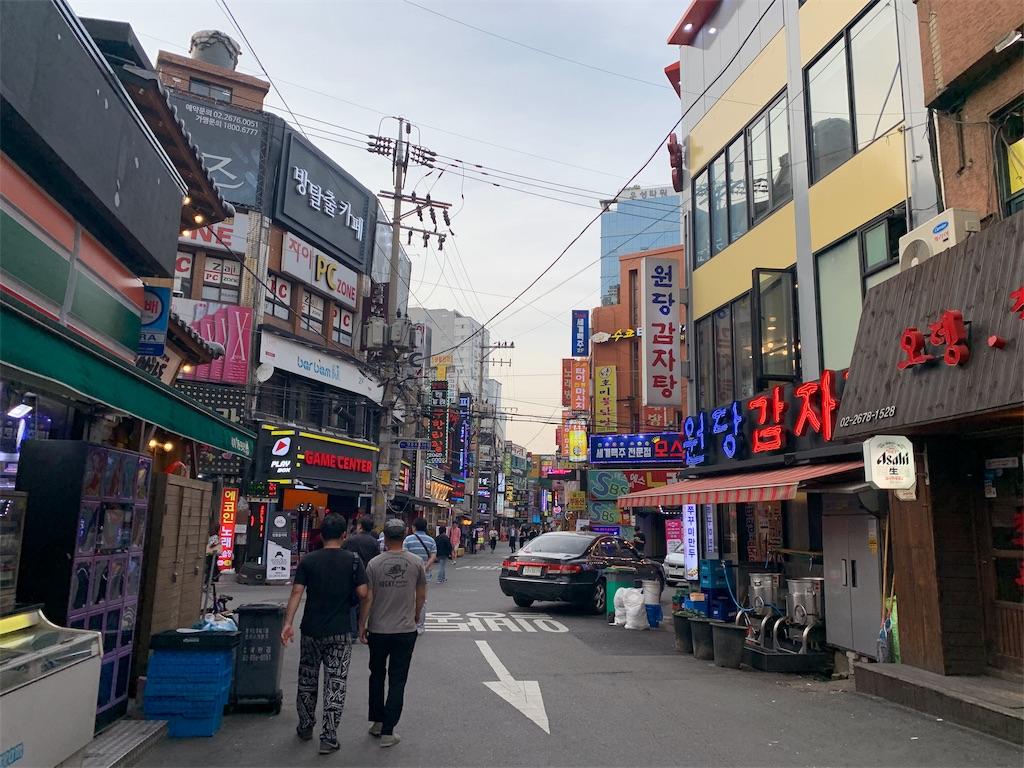 ヨンドゥンポの飲食店街