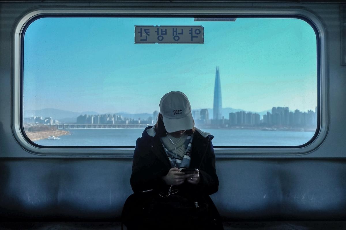 電車から見る風景