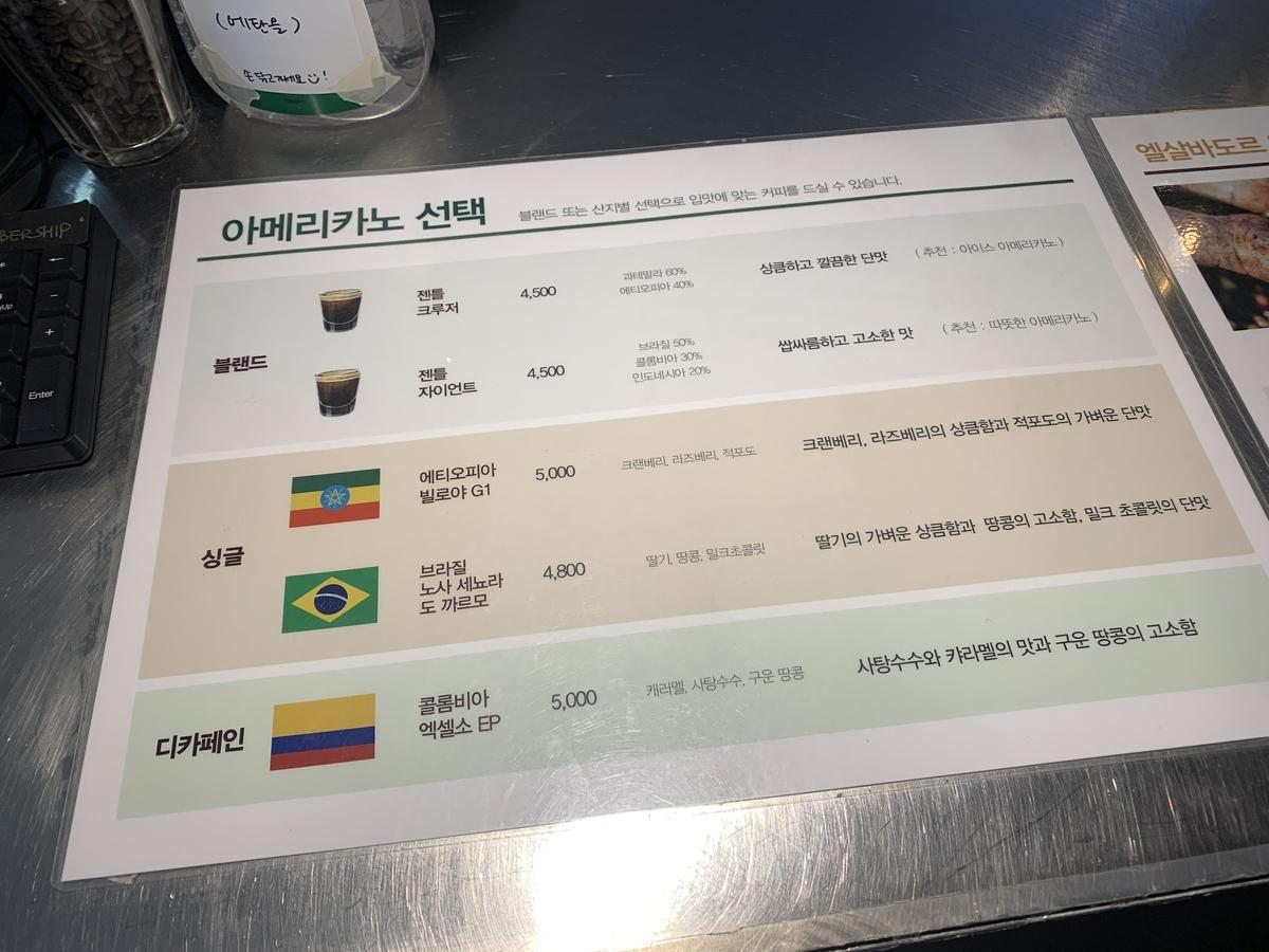 コーヒー豆選択