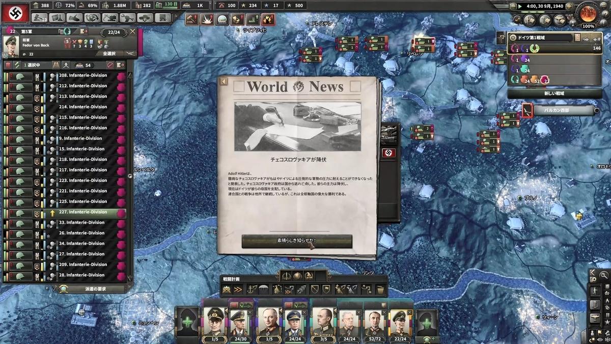 チェコスロバキア降伏