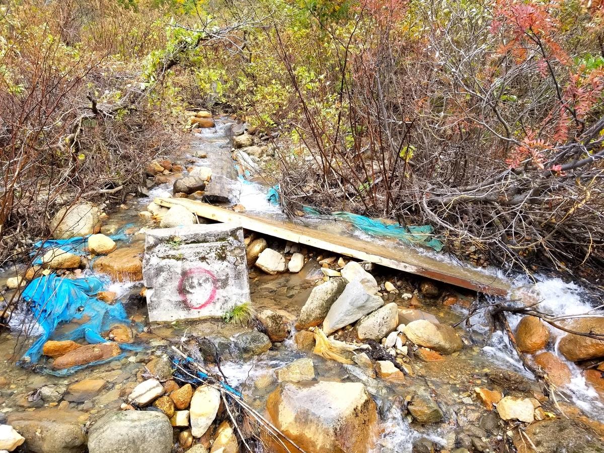 ガラメキ温泉への道