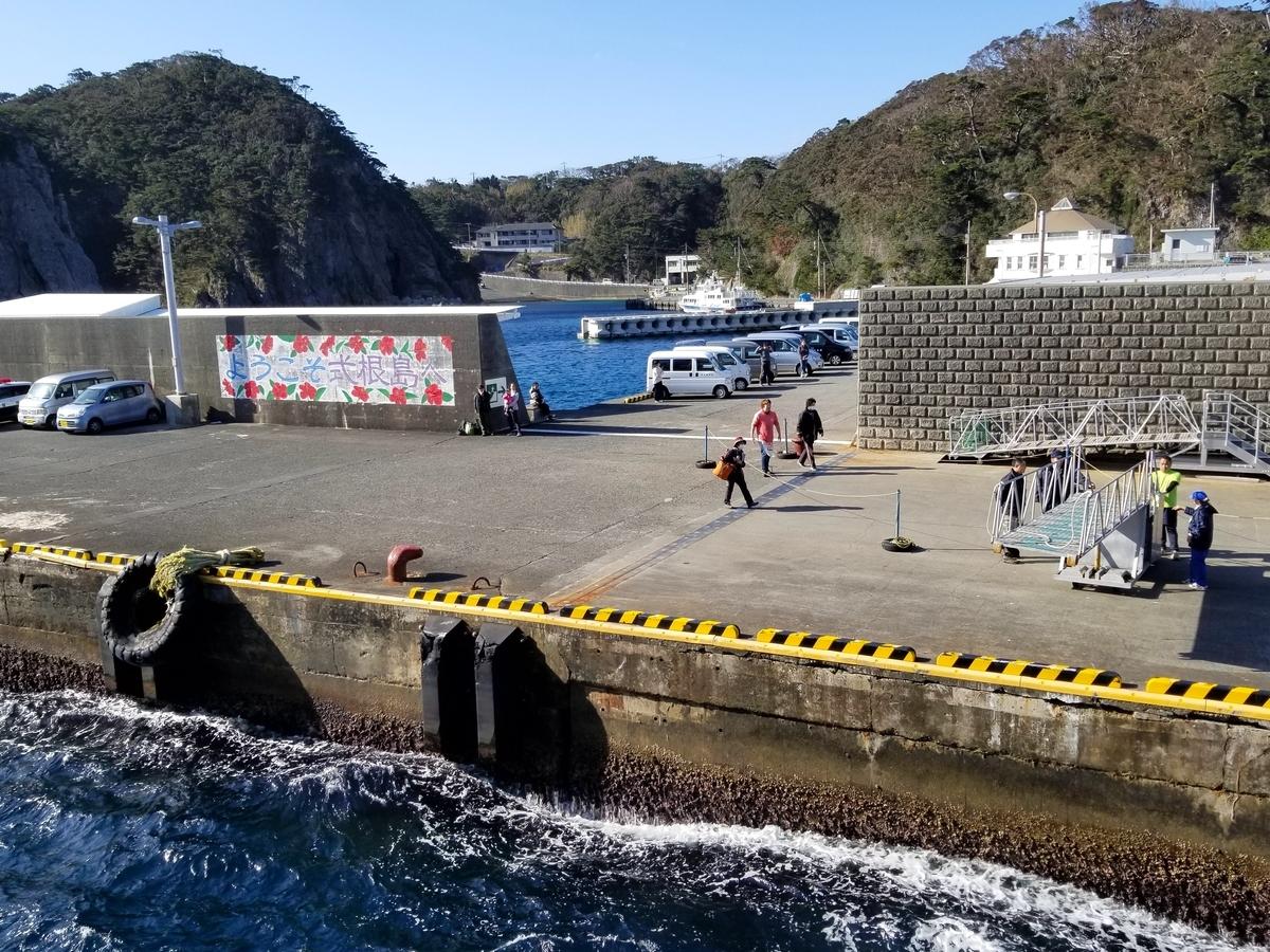 式根島 港
