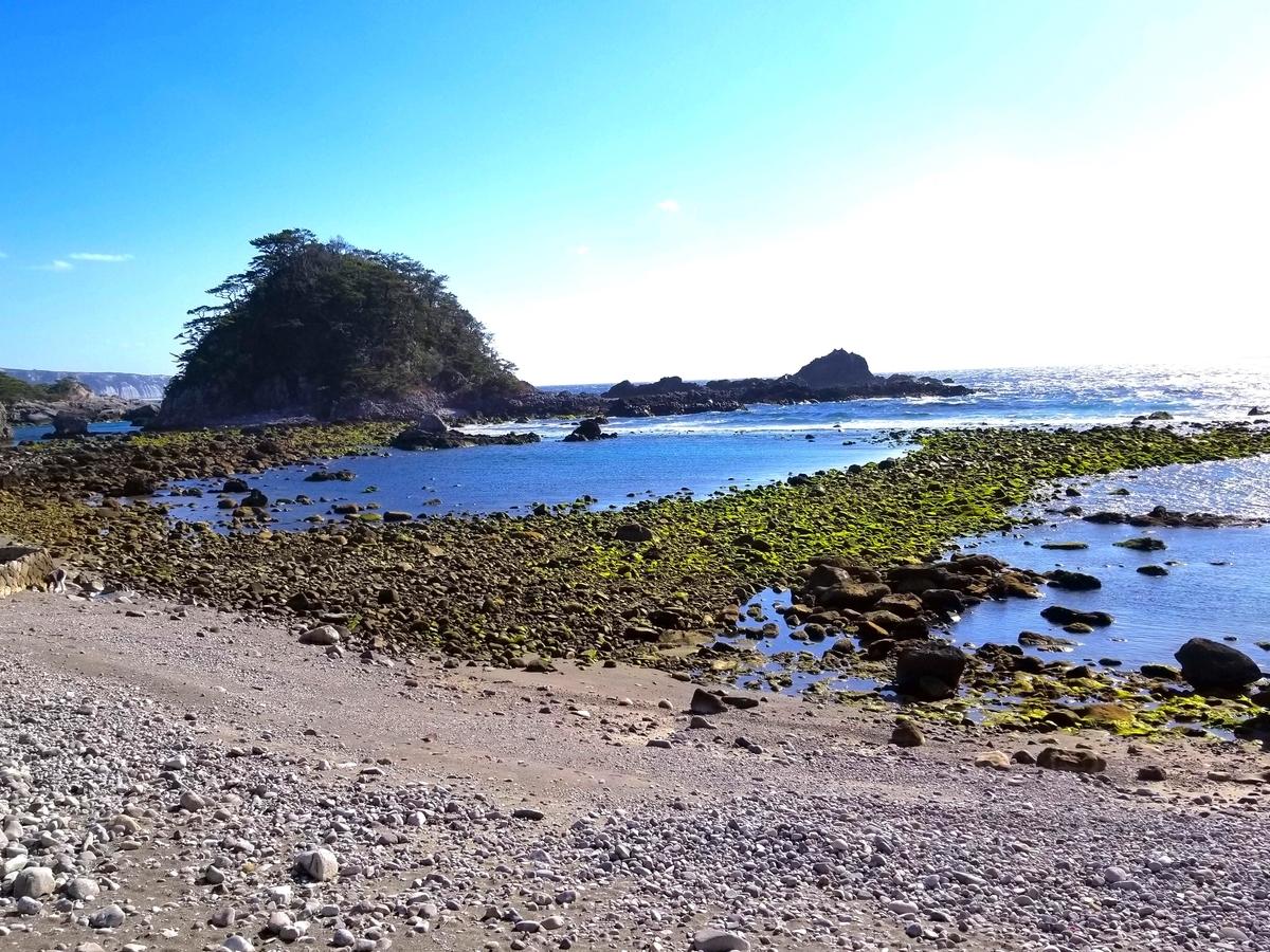 式根島 窯の下海岸
