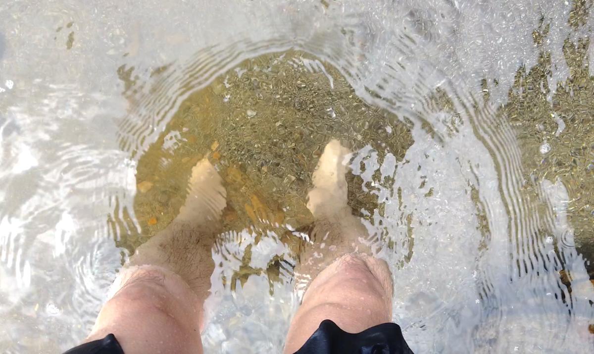 式根島 釜下海中温泉