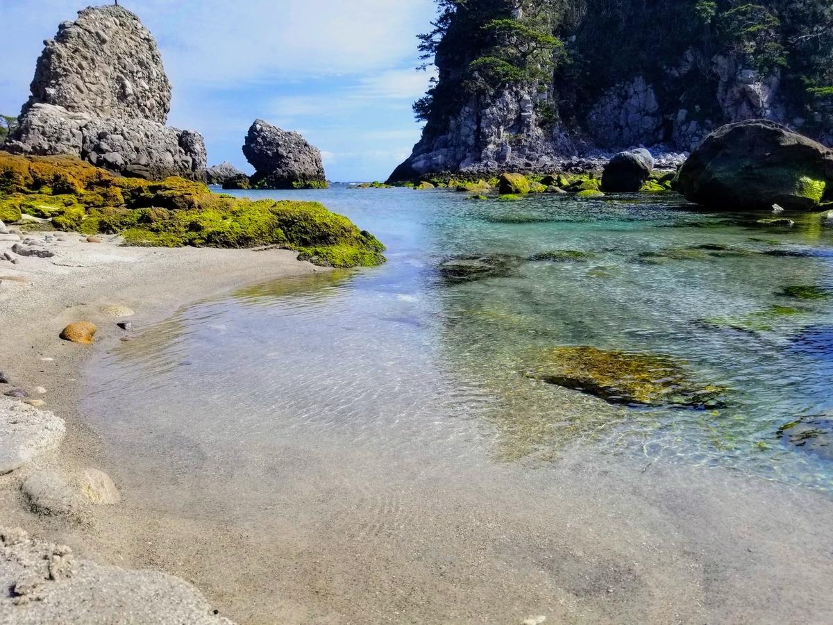 石白川海中温泉 式根島