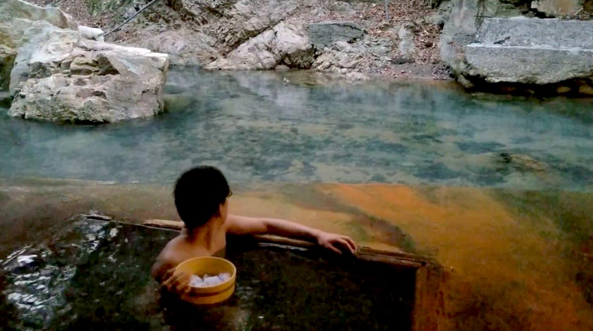 明賀屋本館 塩の湯 塩原 露天風呂 川岸