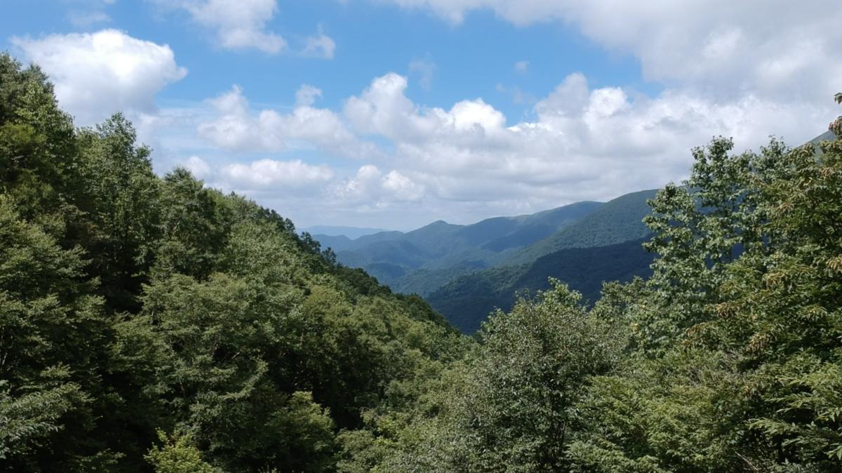 御宝前の湯 茶臼岳 那須岳 野湯 眺め