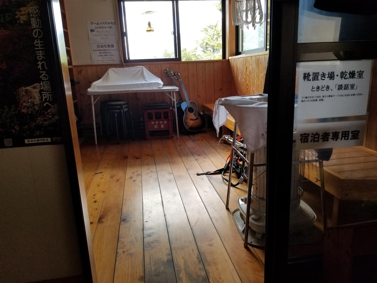 三斗小屋温泉 煙草屋 談話室