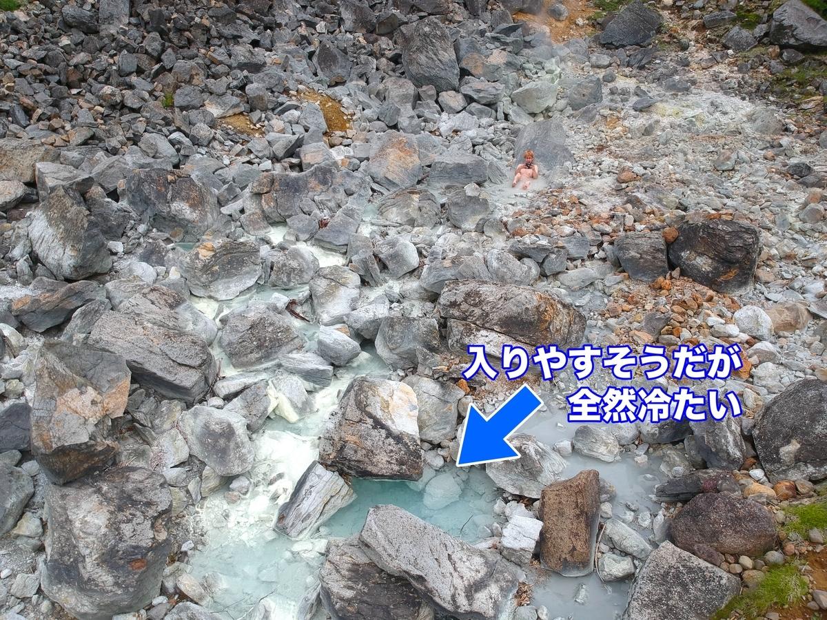 中ノ沢温泉 那須 野湯 湯船