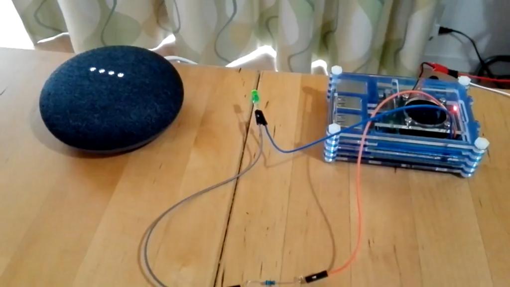 Google Home mini と Raspberry pi