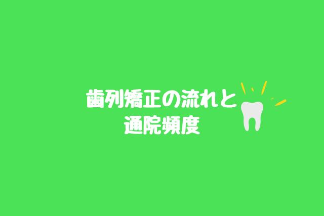 歯列矯正の流れと通院頻度