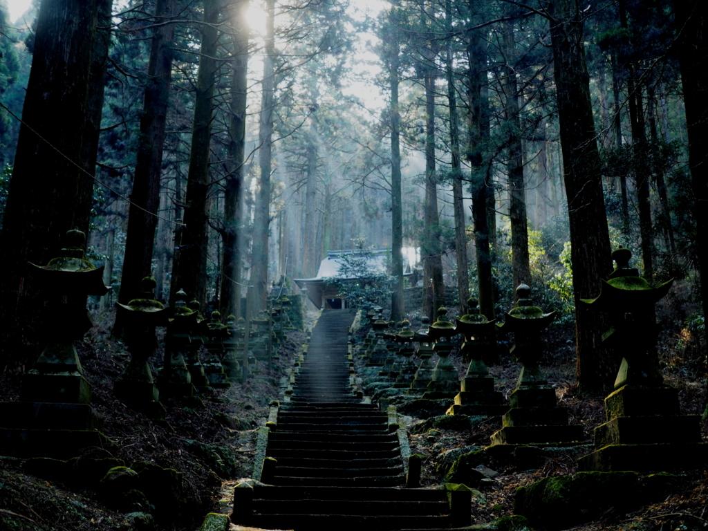 上色見熊野座神社 異世界感がすごい
