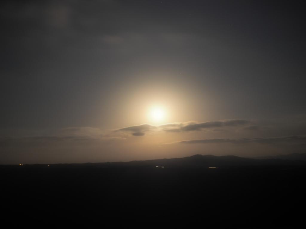 阿蘇 大観峰 月