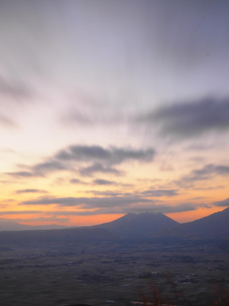 阿蘇 大観峰 流れる雲