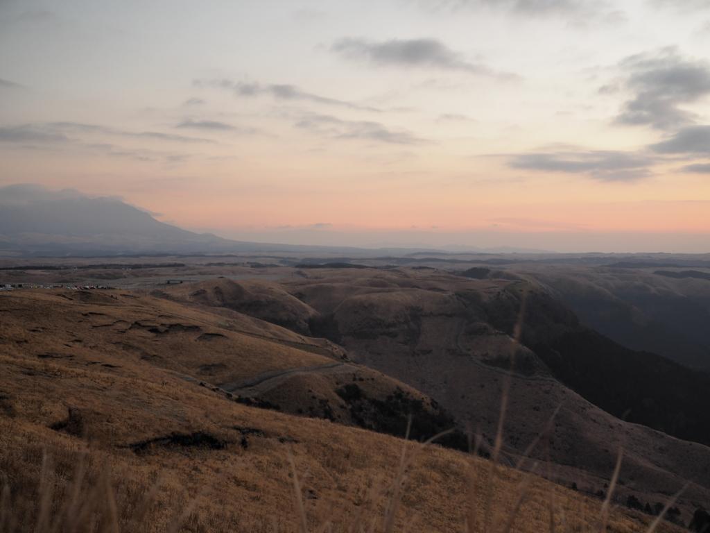 阿蘇 大観峰 草原