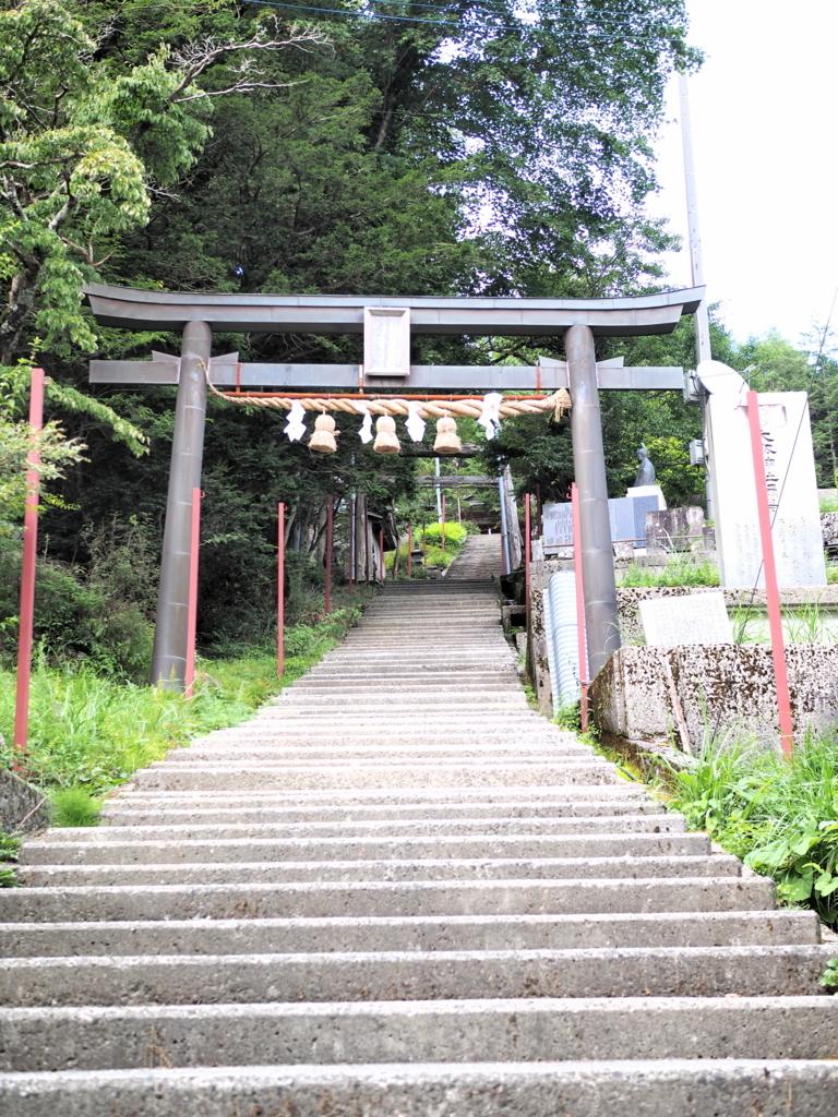 剣山神社の石段