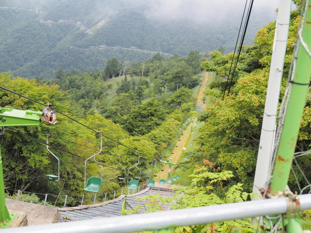 剣山登山 西島駅から見下ろす