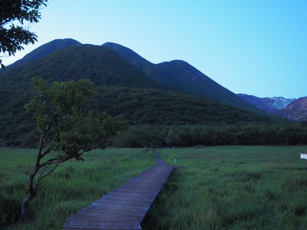 長者原 タデ原湿原の木道