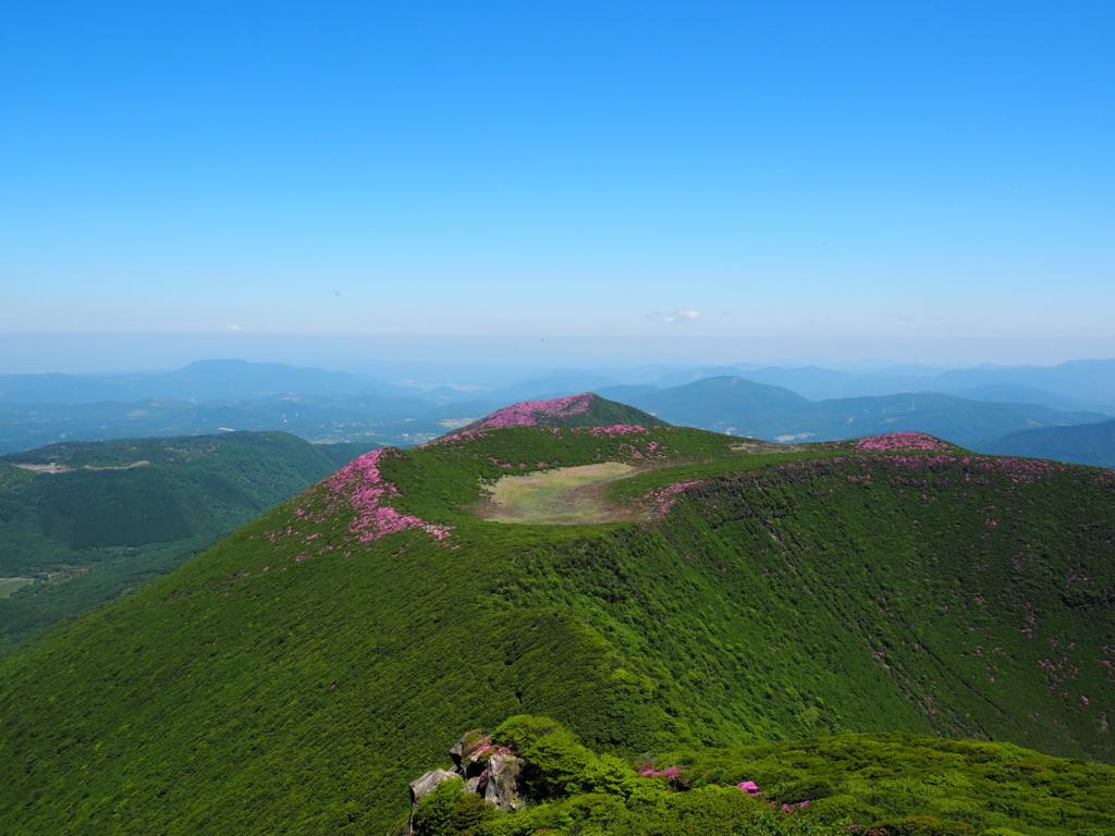 大船山から見下ろす北大船山