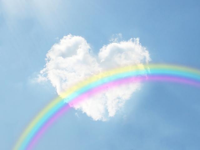 東日本大震災,虹