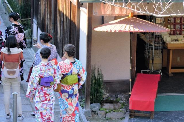 京都 着物 女子会
