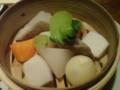 根野菜のせいろ蒸し