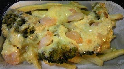 海老とポテトのチーズ焼き