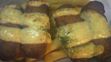 ハンバーグとポテトのチーズ焼