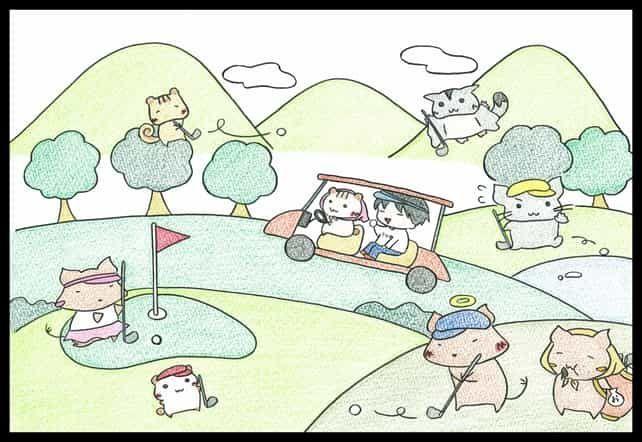 ゴルフイラスト