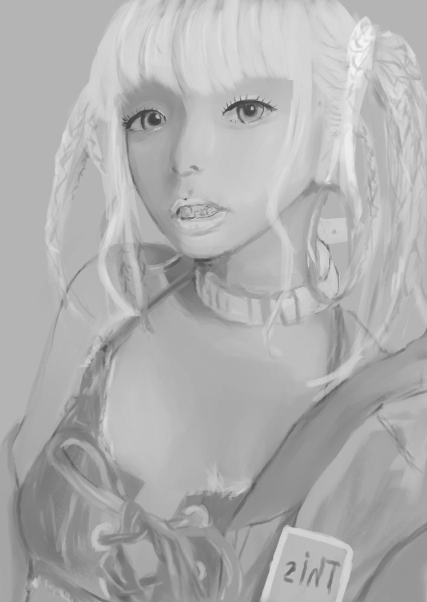 【イラスト】メイリアさん描いてみた