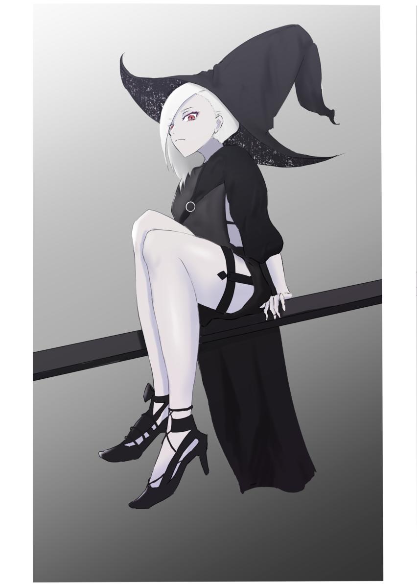 【イラスト】アルビノ魔女