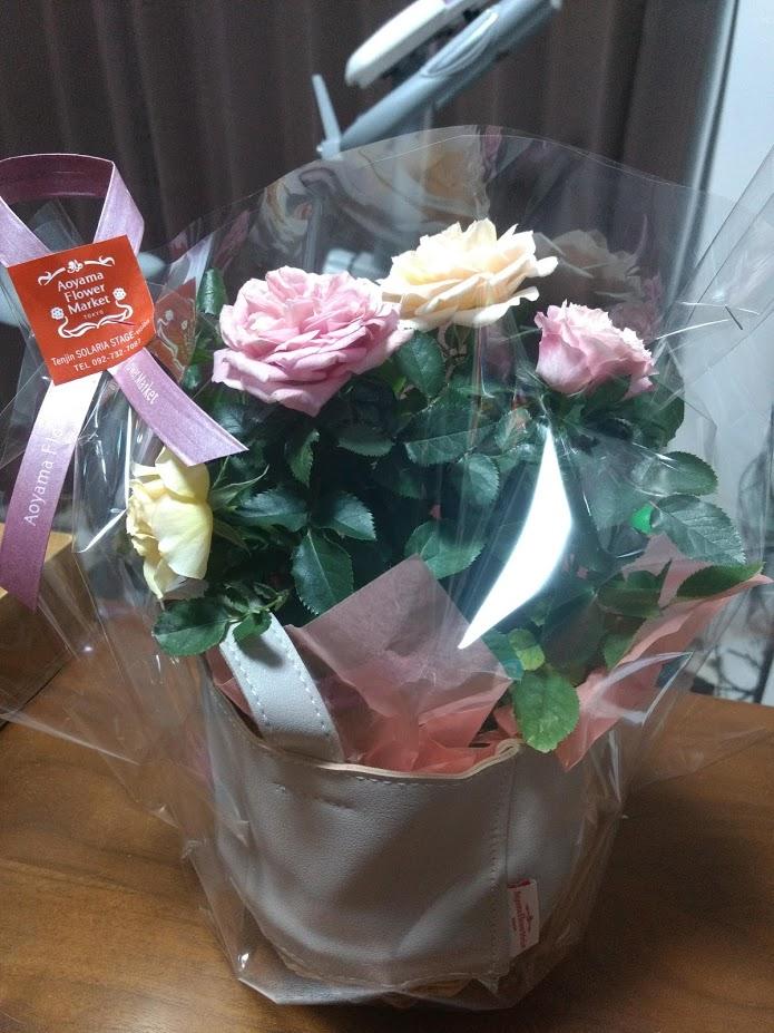 奥さんに贈った花