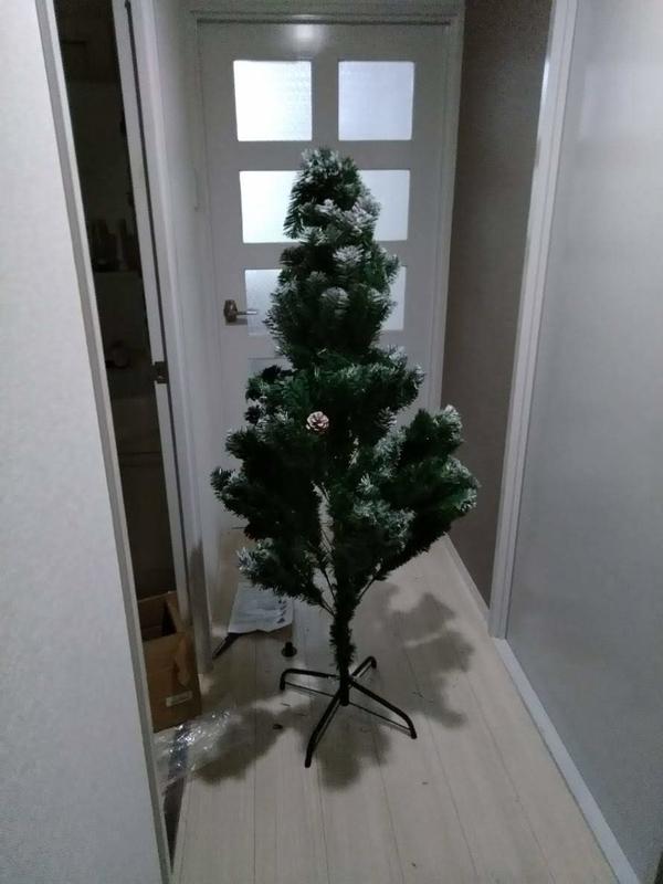 一旦組み立てたクリスマスツリー