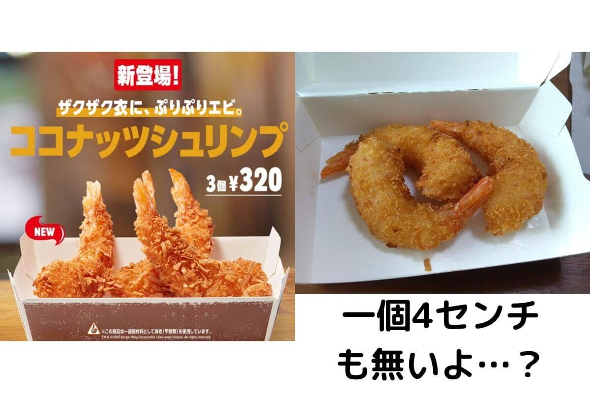バーガーキングのココナッツシュリンプの広告と現実の比較