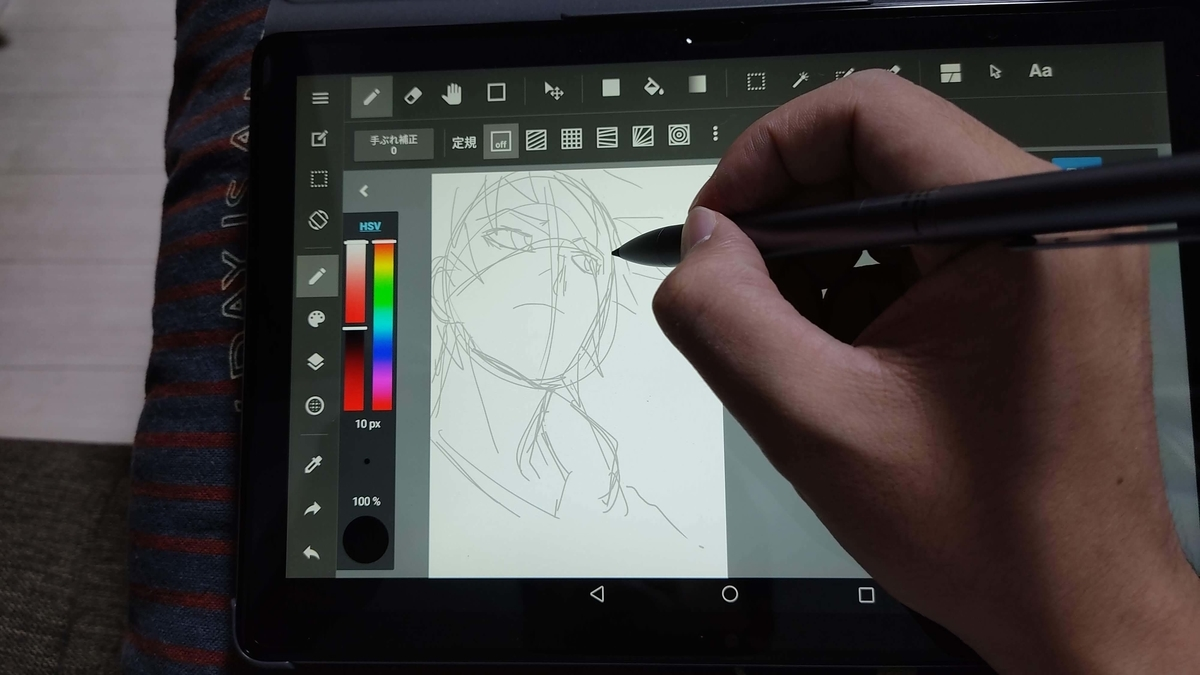 HUAWEI MediaPad M5 lite 10.1インチ 64GB Wi-Fiモデルでイラスト