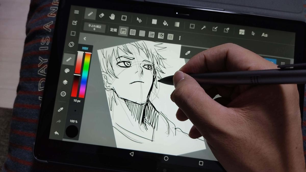 AndroidタブレットHUAWEI MediaPad M5 lite 10.1インチ 64GB Wi-Fiモデルでお絵描き