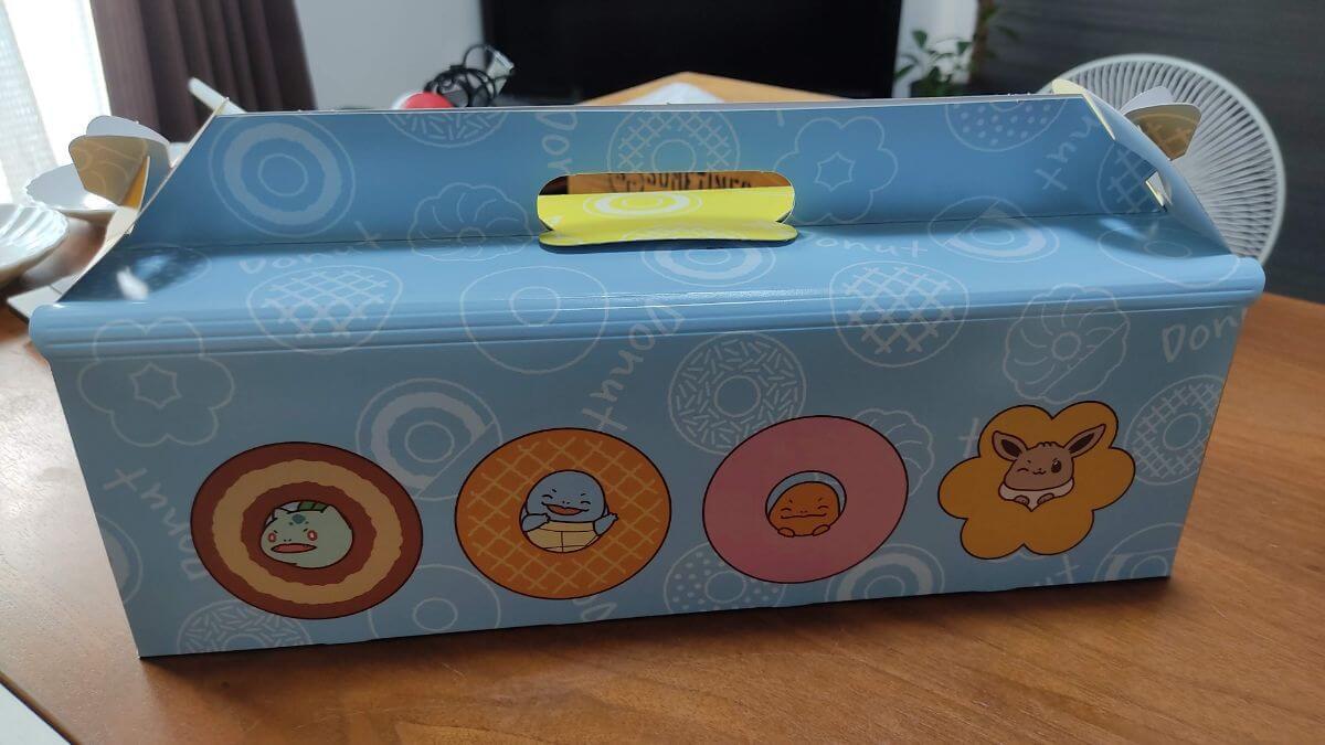 ミスドポケモンコラボの箱が可愛い