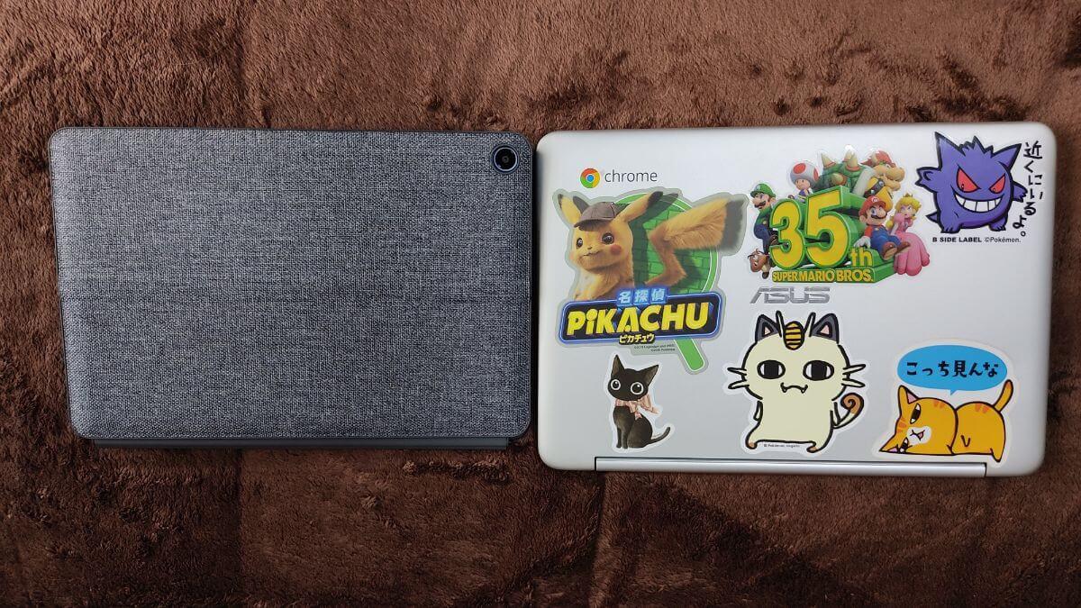 Chromebook Ideapad DuetとC101PAのサイズ比較②