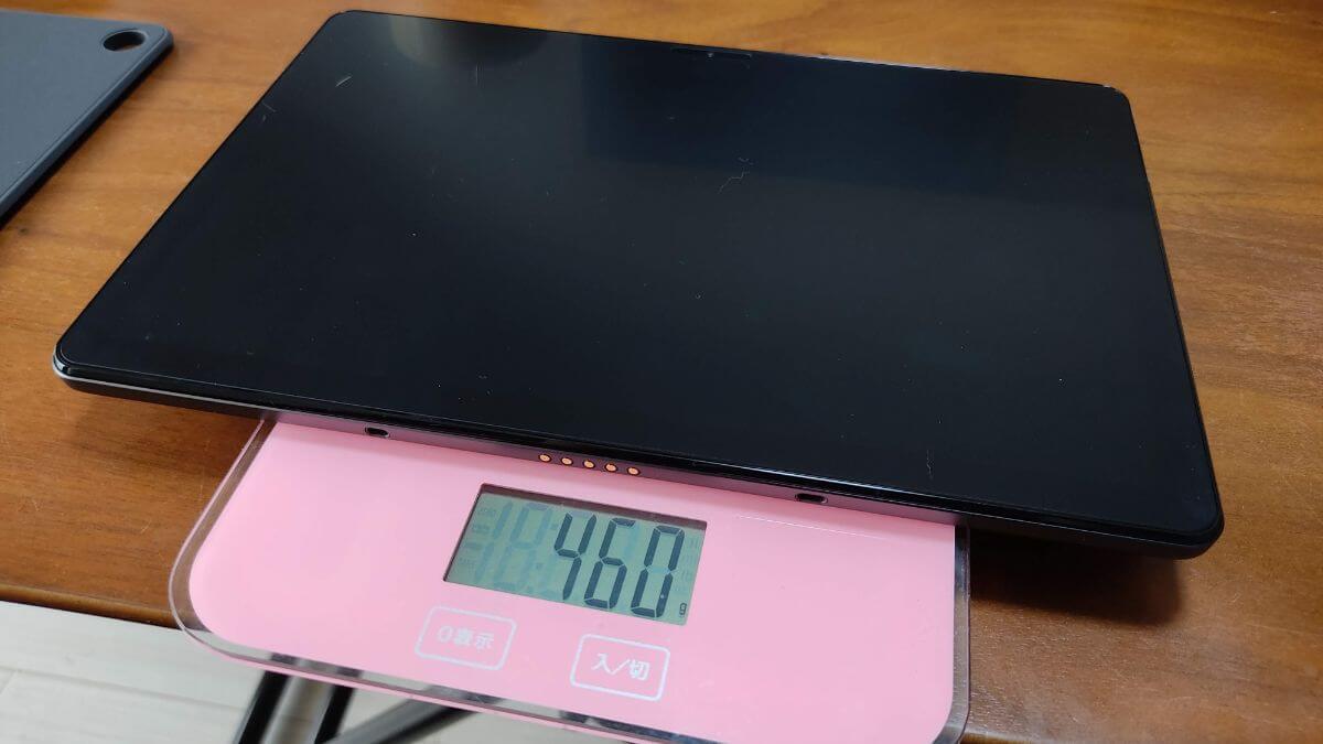 Chromebook Ideapad Duet単体の重量