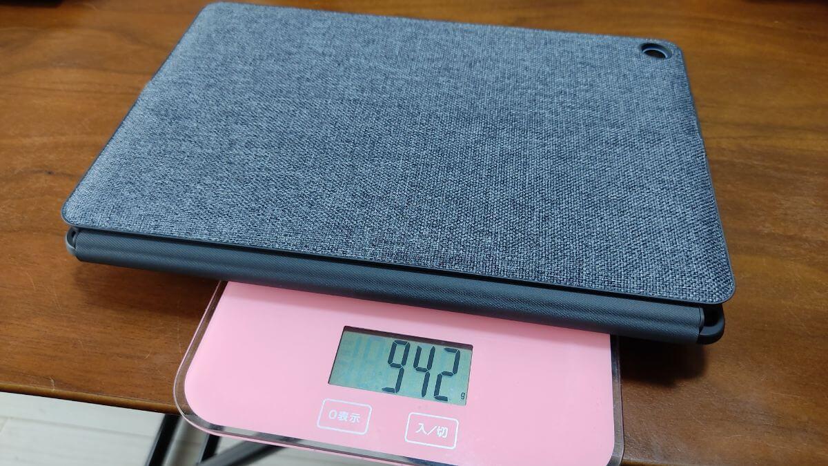 Chromebook Ideapad Duetキーボード/スタンドカバー付きの重量