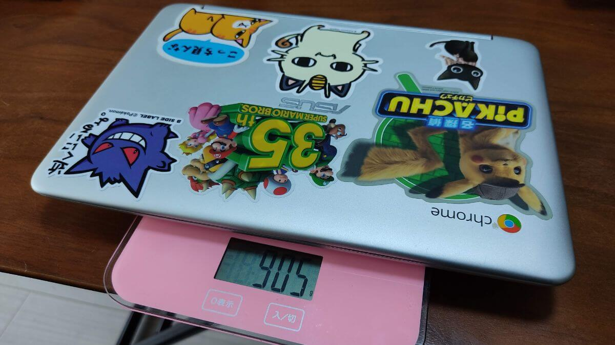 ASUS Chromebook C101PAの重量