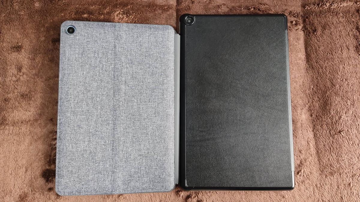 Chromebook Ideapad Duetと同じ10インチのFire HD10とのサイズ比較①